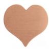 Metal Blank 24ga Copper Heart 20x22mm No Hole 9 pieces